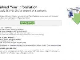 Facebook : Download your information
