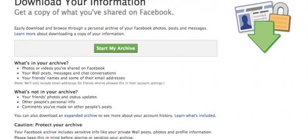 Facebook : Sauvegarde de son profil, toujours plus de données