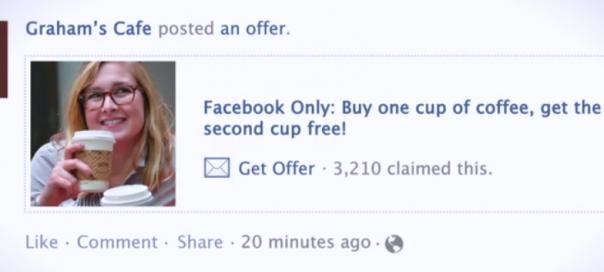 Facebook : Lancement des offres locales dans votre timeline