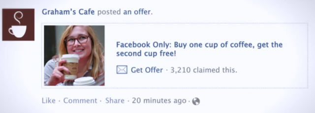 Offres géolocalisées dans la timeline Facebook