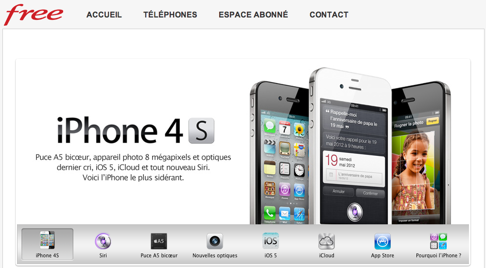 iPhone 4 et 4S enfin chez Free Mobile