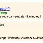 Google AdWords : Mots clés affichés dans les annonces