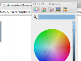 Google Chrome : HTML5 input color
