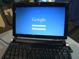 Ecran de connexion Google Chrome OS