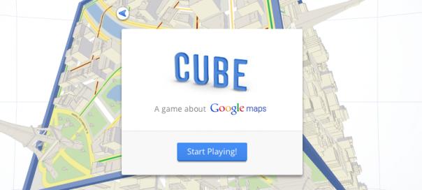 Google Cube : Un jeu HTML5 à la sauce Google Maps