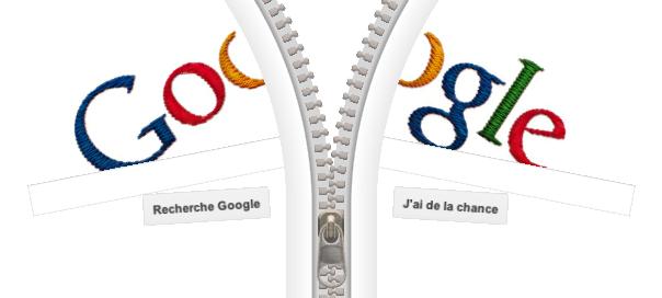 Google : Doodle Gideon Sundback - Fermeture Éclair