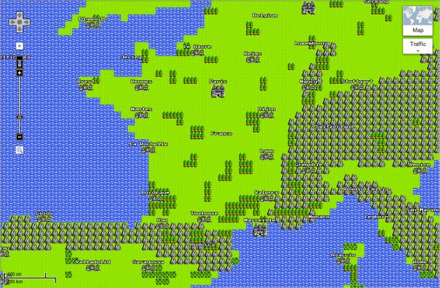 Google Maps en 8 bits