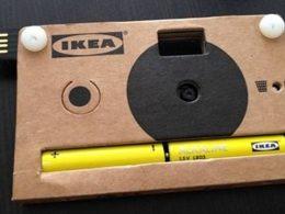 Ikea : Appareil photo en carton