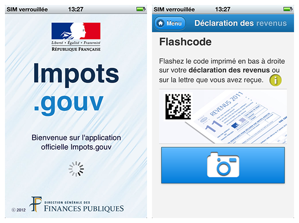 Impots.gouv : Application mobile de déclaration de revenus