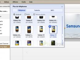 Référence Samsung Galaxy S III dans Kies