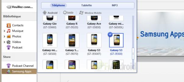 Samsung Galaxy S III : Des références trouvées dans Kies