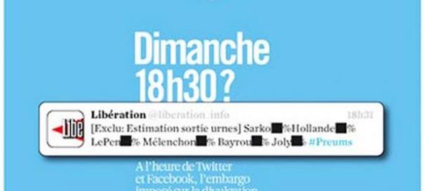 Présidentielle 2012 : 75 000 euros d'amende si vous dévoilez les résultats avant 20H