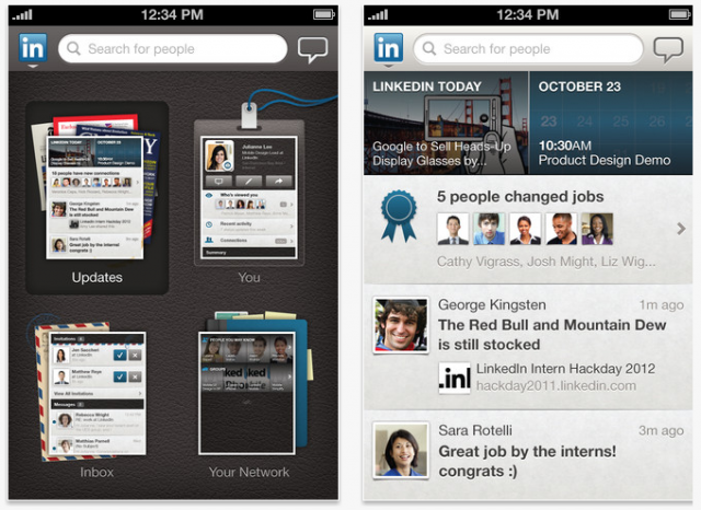 LinkedIn : Application iPad