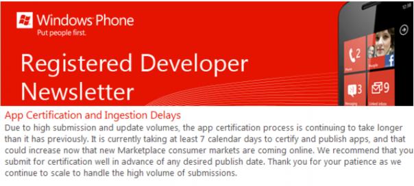 Windows Phone : Renforcement des vérifications sur les nouvelles applications soumises