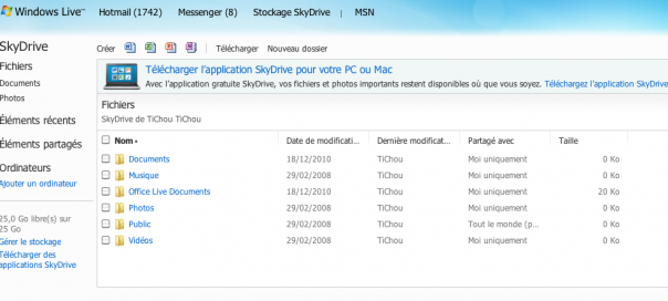 Microsoft SkyDrive : 25Go & applications de synchronisation