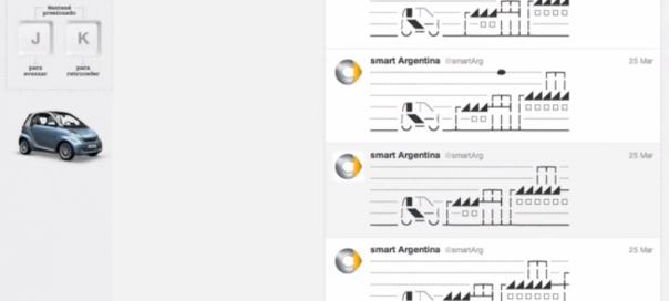 Publicité : Smart mélange l'art ASCII et Twitter