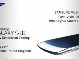 Invitation pour découvrir le Samsung Galaxy S III