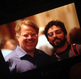 Google Project Glass : Sergey Brin aperçu avec les lunettes