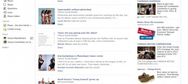 Facebook : Les trending articles actuellement en test
