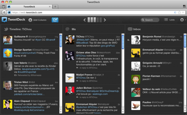 TweetDeck Web
