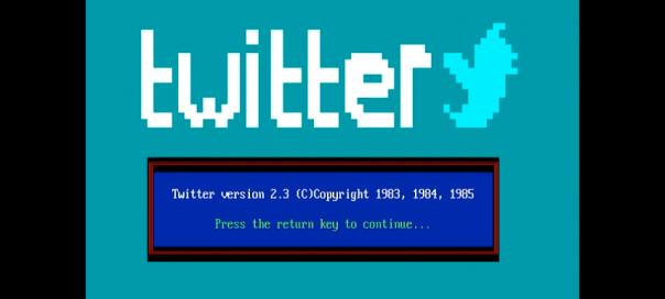 Twitter : Version vintage depuis DOS dans les années 1980