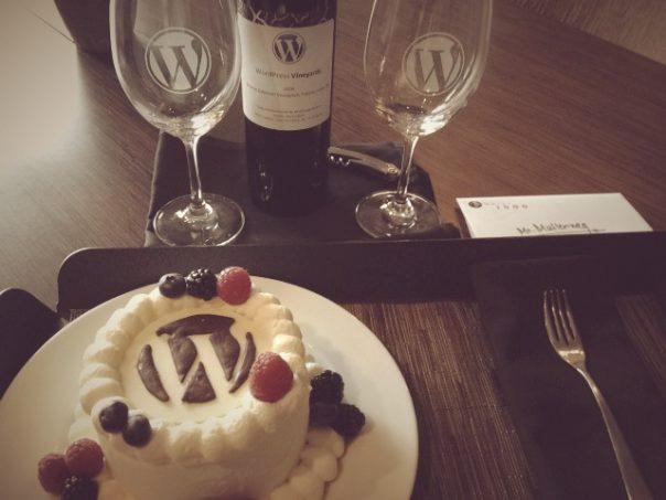 WordPress : Gâteau et vin
