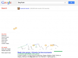 Zerg Rush, le nouvel easter egg de Google