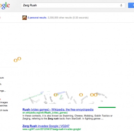Google : Zerg Rush, l'easter egg Starcraft