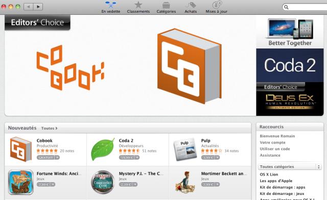 Mac App Store : Choix de l'éditeur