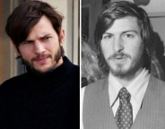 Ashton Kutcher : Tenue de Steve Jobs enfilée