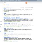 Bing : Ancienne page de résultats