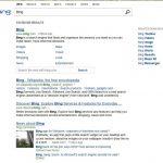 Bing : Nouvelle page de résultats