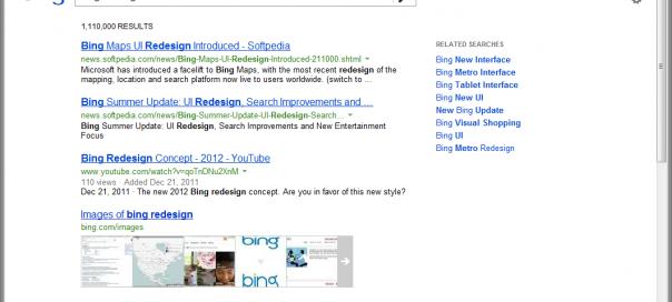 Bing : Nouvelles pages de résultats du moteur