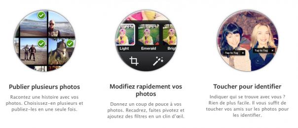 Facebook Camera : Fonctionnalités