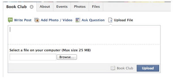Facebook : Partage de fichiers pour les groupes