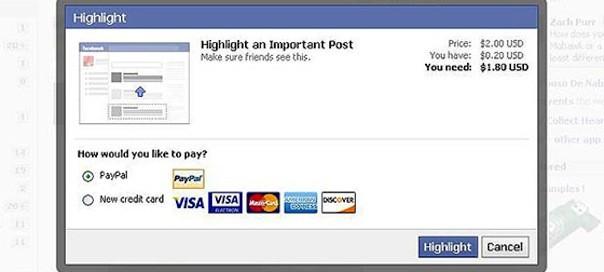 Facebook : Payer pour la promotion de publications ?