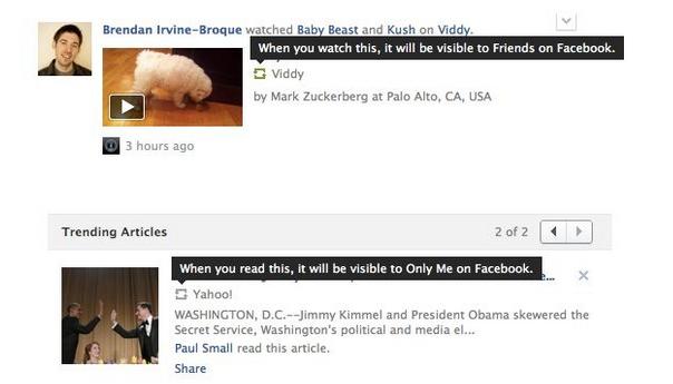 Facebook : Nouvel icone de partage