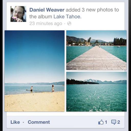 Facebook Mobile : Photos flux mobile