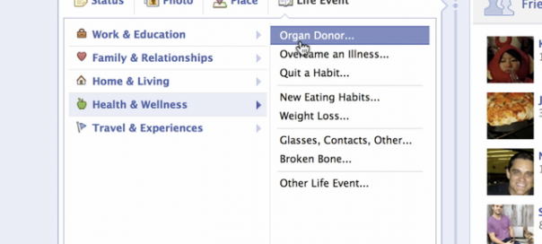 Facebook : Donneurs d'organes ? Faites-le savoir !