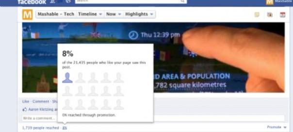 Facebook page fan : Combien de personnes ont vu votre statut ?