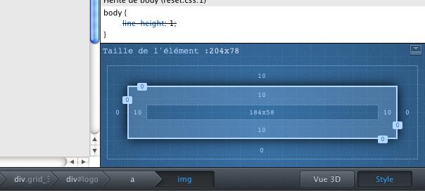 Firefox 14 : Layout de l'élément sélectionné pour les développeurs