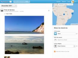 Foursquare : Page d'historique