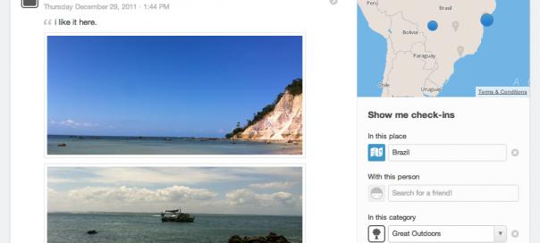 Foursquare : Une page historique pour retrouver tous vos checkins