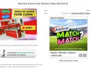 Free : Captcha publicitaire sur le service d'envoi de fichiers