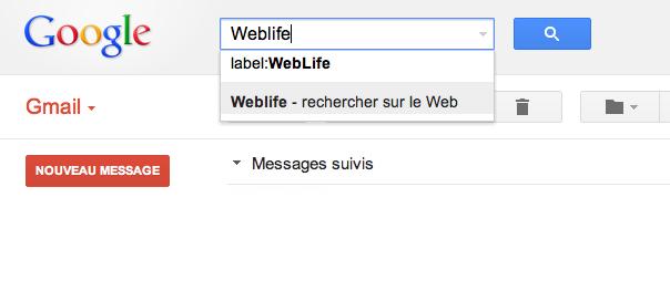Gmail : L'auto-complétion dans la barre de recherche débarque