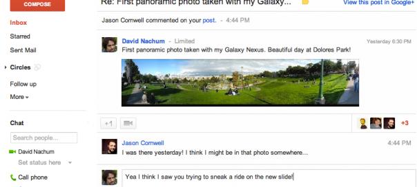 Gmail : Google+ désormais intégré au service de messagerie
