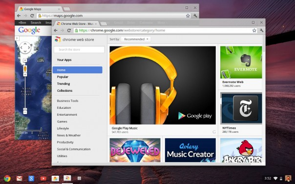Google Chrome OS : Interface utilisateur