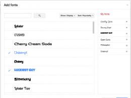 Google Docs : Gestion des polices