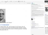 Barre de recherche sur Google Docs
