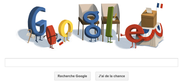 Google : Doodle du second tour de l'élection présidentielle 2012